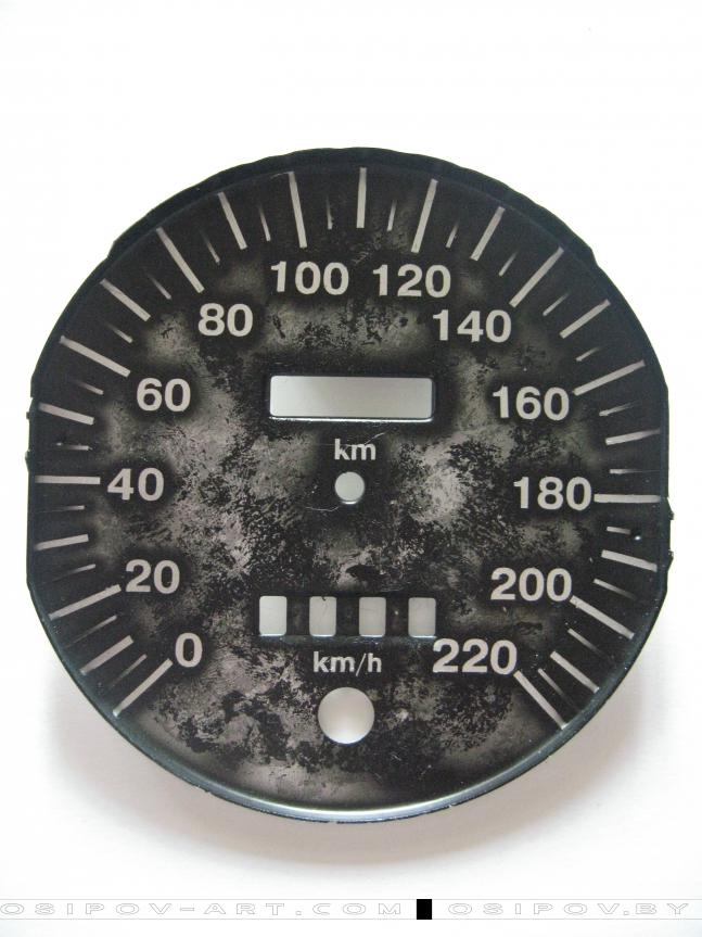 The speedometer and tachometer